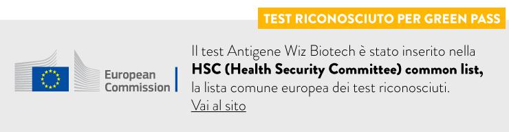 wiz biotech test verificato HSC lista comune europea test
