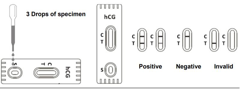 hcg pregnancy test monlab test use