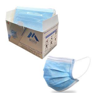 Mascherine chirurgiche azzurre made in Italy Medea